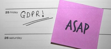 ASAP post-it note for GDPR