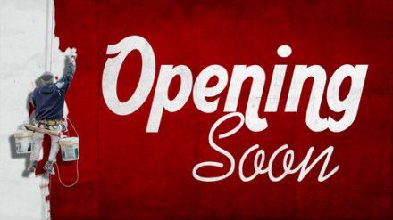 opening soon signage