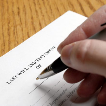 signing a last will and testament