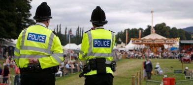 Policemen at a festival