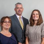 Aisling Scott, Maria Gomez and Alan Stanley, trainee solicitors at Laceys