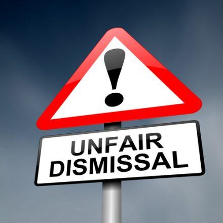 unfair dismissal sign