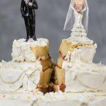 split wedding cake divorce couple