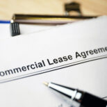 Commercial lease agreement with pen