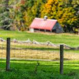 Fencing around rural building